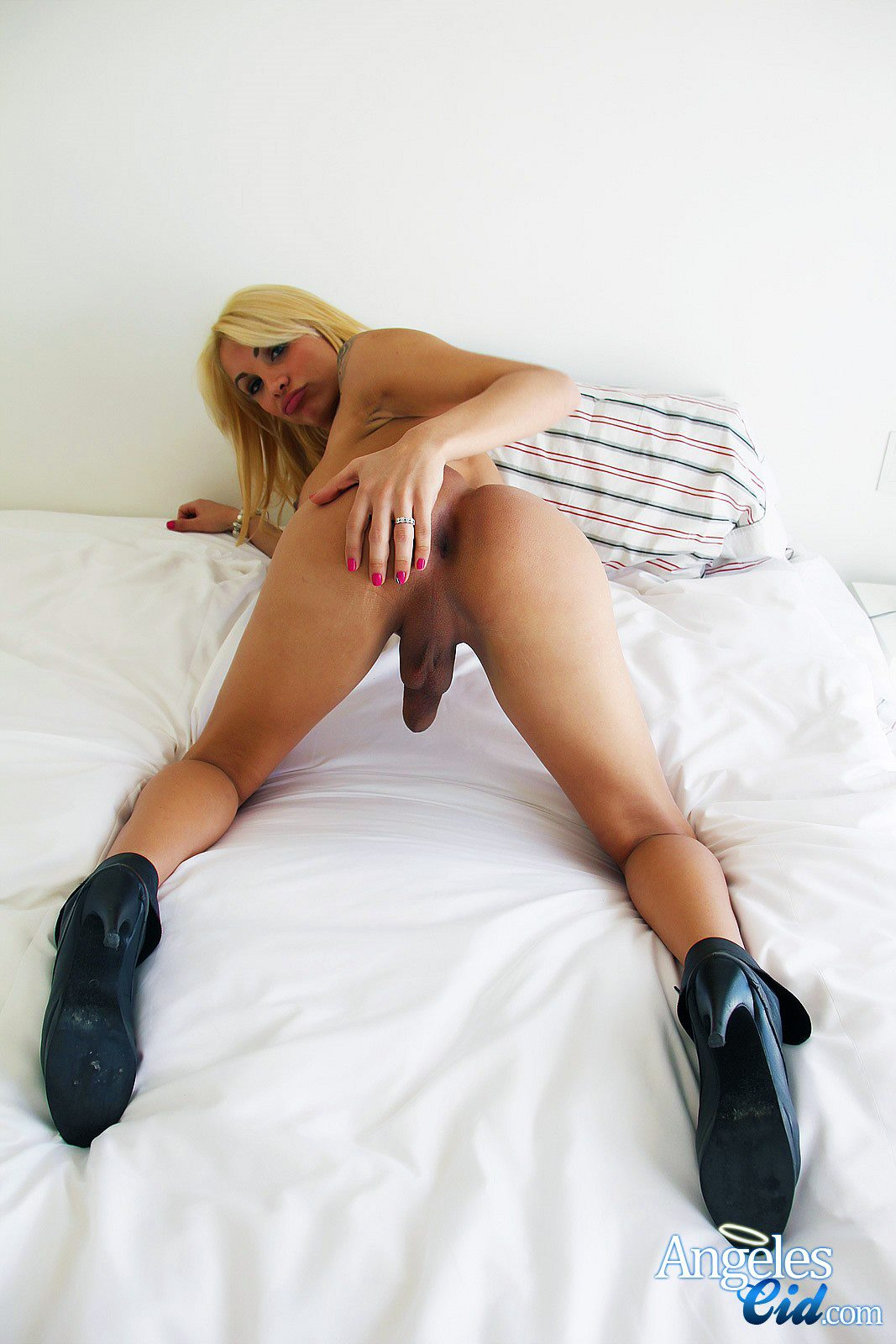 Spread trans girl ass